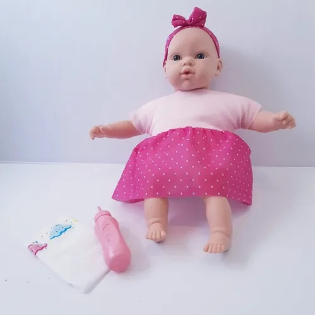 Boneca Titi Faz Xixi C Fraldinha +acessorio Educativa Menina - Foto 2
