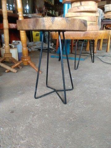 Mesa de madeira de jaqueira com ferro - Foto 2