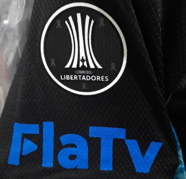 Camisa Flamengo Libertadores de jogo do jogador Diego Alves Preta com Azul - Foto 4