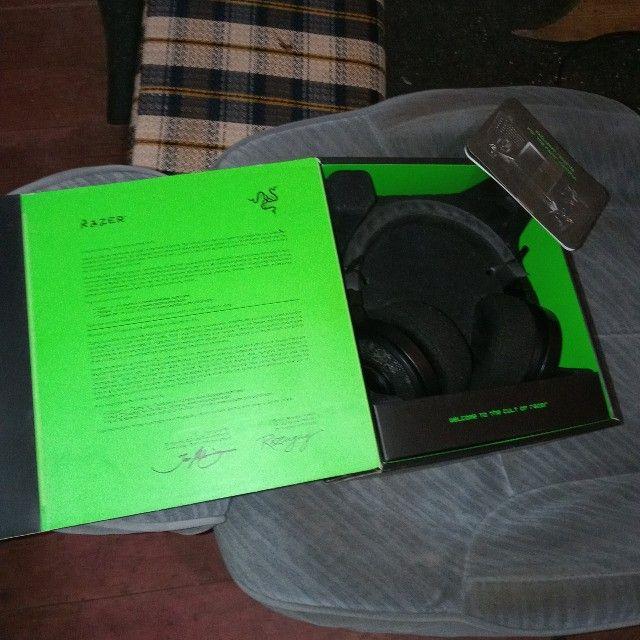 Headset Razer Kraken 7.1 USB na caixa - Foto 5
