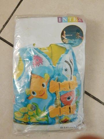 Colete salva vidas inflável infantil NOVO - Foto 2
