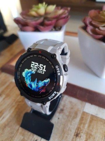 Relógio smartwatch Lemfo K22 recebe e faz chamadas novo - Foto 3