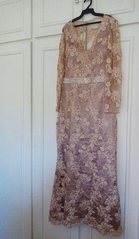 Vestido de festa longo de renda - Foto 2