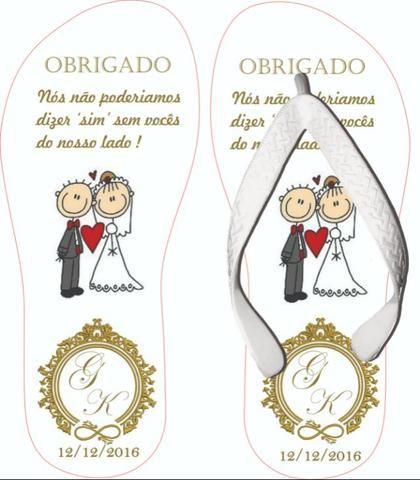 Chinelos Personalizados Casamentos e Formaturas - Foto 3