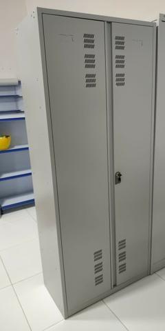 Estantes de aço e armário - Foto 4