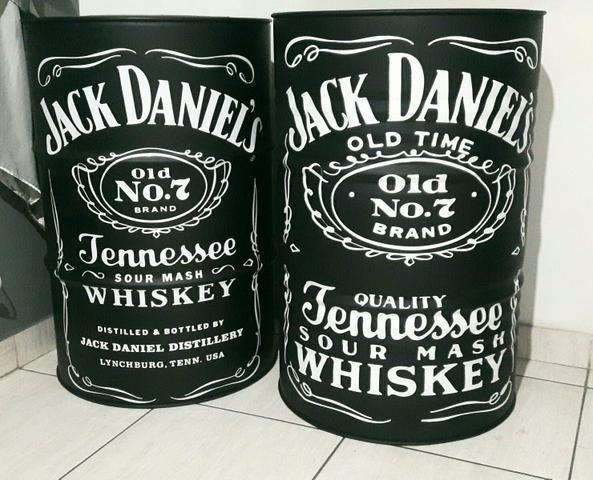 Tambor Barril Tonel Decorativo Jack Daniel's x 12x R$ 25,0 x Entrega Grátis x Garantia 3 - Foto 3