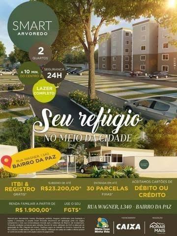 Smart Arvoredo Apto 2 Qts 42 m2 Próx. só Club Municipal !