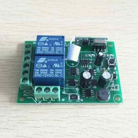 Receptor Controle Remoto Interruptor Ac 250 V 110 V 220 V 2ch Relé - Foto 3