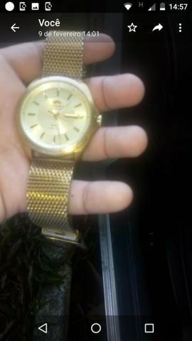 2d184bf38c4 Vendo cordão de prata banhado a ouro e um Relógio Orient automático ...