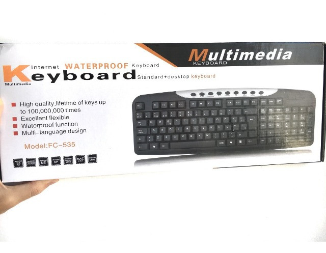 Teclado PC Multimedia Multilinguagem Antiderrapante