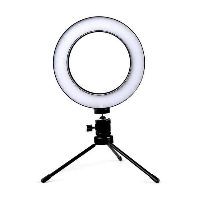 Ring Light Led Iluminador Tripé 6 polegadas 16 cm A Melhor - Foto 3