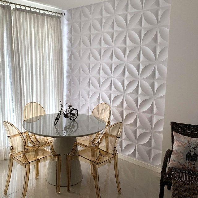 Placa 3D Revestimento Parede Alto Relevo Painel Decorativo - Foto 2