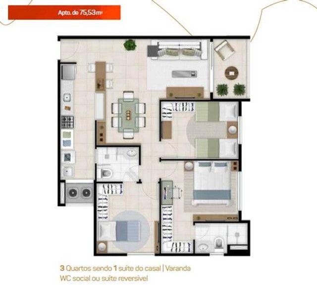 Apartamento Novo no Benfica Ao Lado da Reitoria da UFC - Foto 15