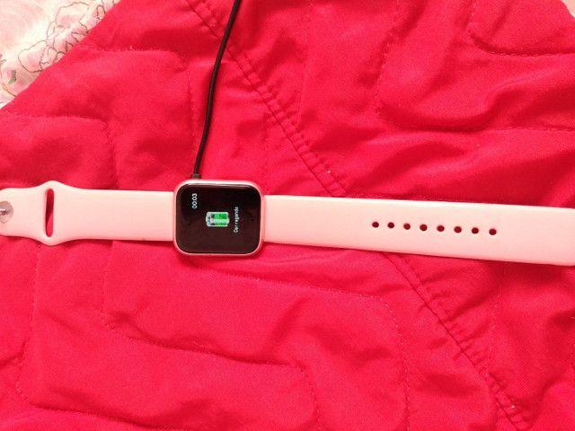 Relógio smartwatch e um moto G7 play - Foto 2