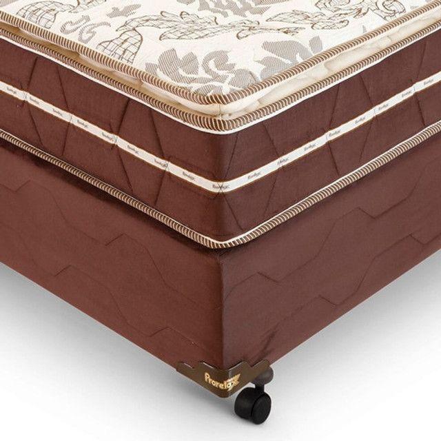 Cama Queen Size molas ensacadas D33 com pillow - Foto 2