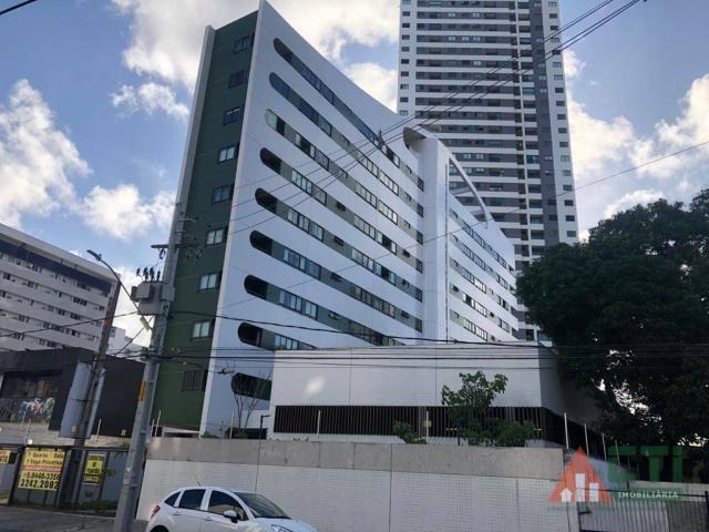 Flat com 1 dormitório para alugar, 40 m² por R$ 2.000,00/mês - Madalena - Recife/PE