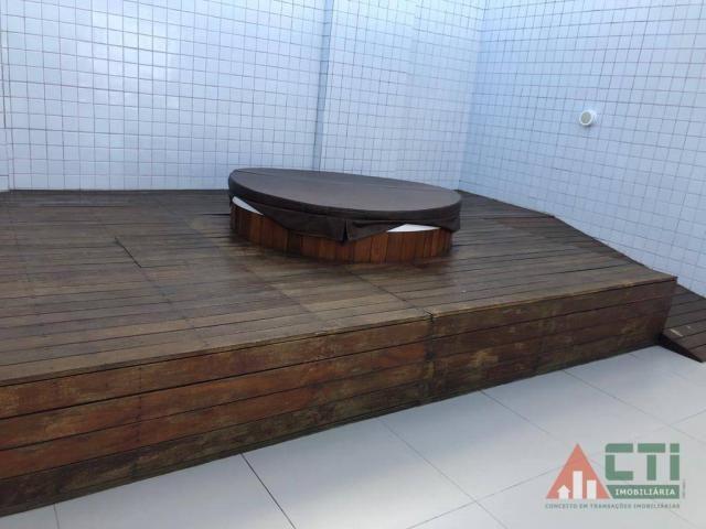 Flat com 1 dormitório para alugar, 40 m² por R$ 2.000,00/mês - Madalena - Recife/PE - Foto 12