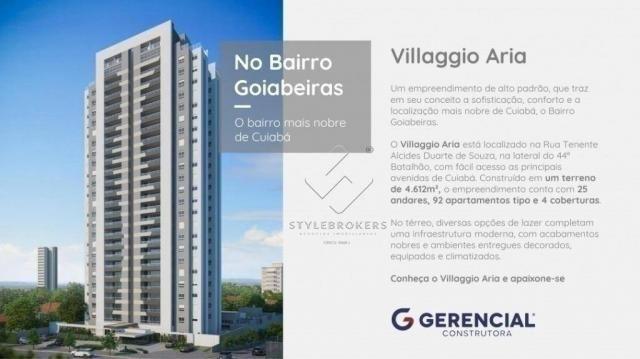 Apartamento com 3 dormitórios à venda, 137 m² por R$ 927.120,00 - Ária - Cuiabá/MT - Foto 7