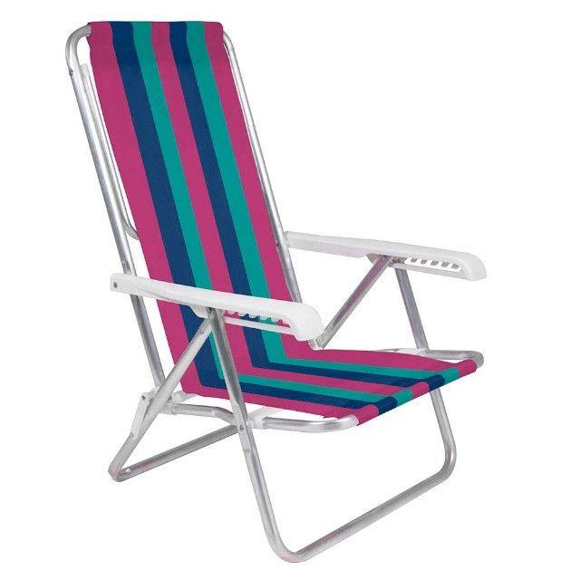 Cadeira Alumínio Reclinável 8 posições Lilás MOR