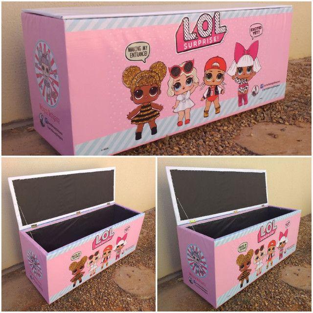 Caixa de brinquedos 40x50x70cm  - Foto 6
