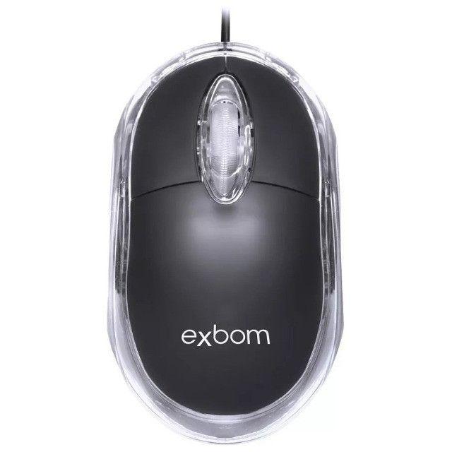 Mouse Classic Box Optico Usb Scroll Exbom Ms-10 Promoção - Foto 2