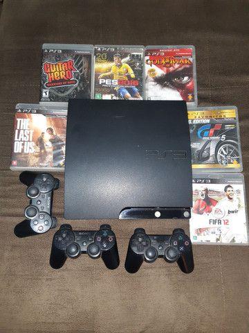 Bateria/Guitarra Guitar Hero + PlayStation 3 Ps3  + Jogos  - Foto 2