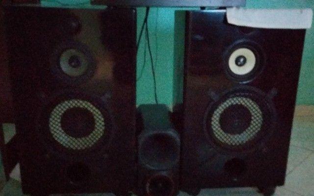 Aparelho com 2 caixas de som e corneta - Foto 3