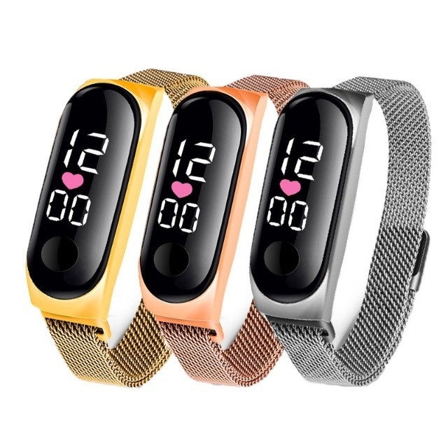 Relógio Digital Led Esportivo Com Pulseira De Aço - Frete grátis - Foto 5