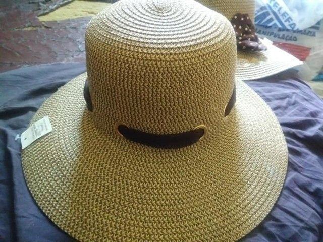 Chapéu Feminino Mulher Laço Fita para Praia Piscina Sol Verão Madame Estiloso  - Foto 2