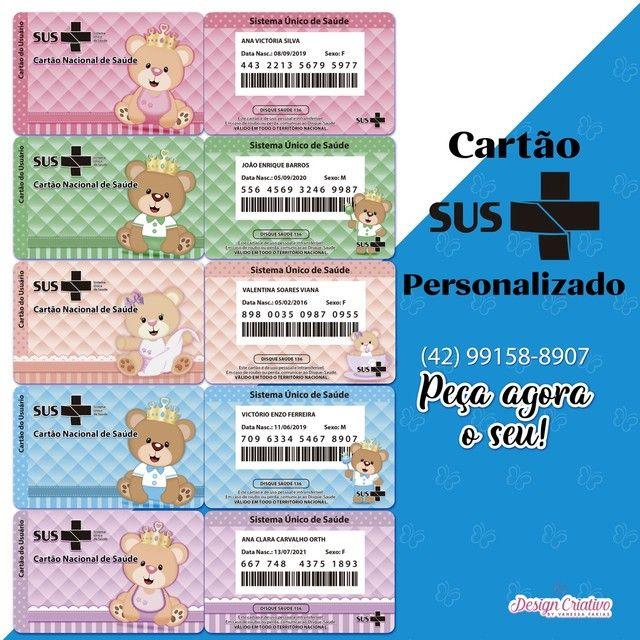 CARTÃO SUS PERSONALIZADO  - Foto 3