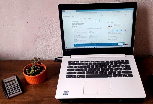 notebook lindo branco, lenovo i3, 6 geração, 4gb - Foto 5