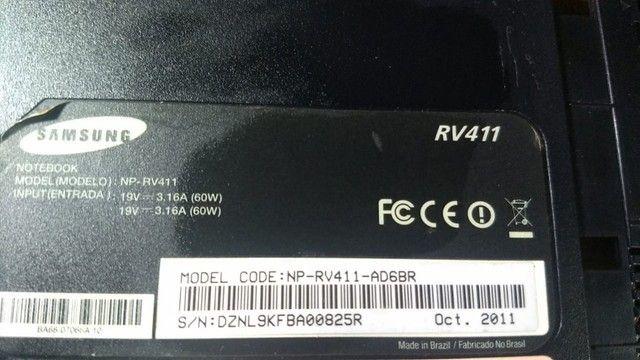 Carcaça Base Inferior Samsung Rv411 - 104 - Foto 2