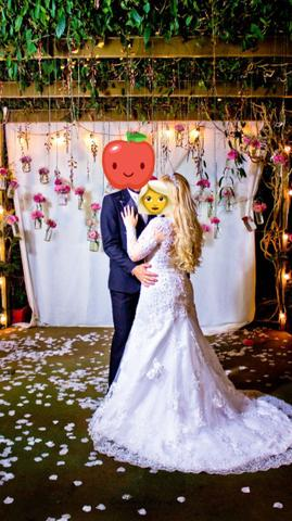 Vestido de noiva maravilhoso, acompanha coroa !!! - Foto 5