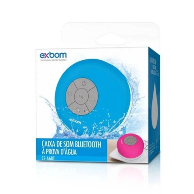 Mini Caixinha Som Bluetooth Portátil Prova Água Ventosa - Foto 5