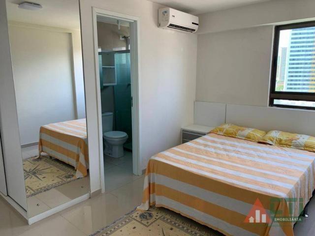 Flat com 1 dormitório para alugar, 40 m² por R$ 2.000,00/mês - Madalena - Recife/PE - Foto 7