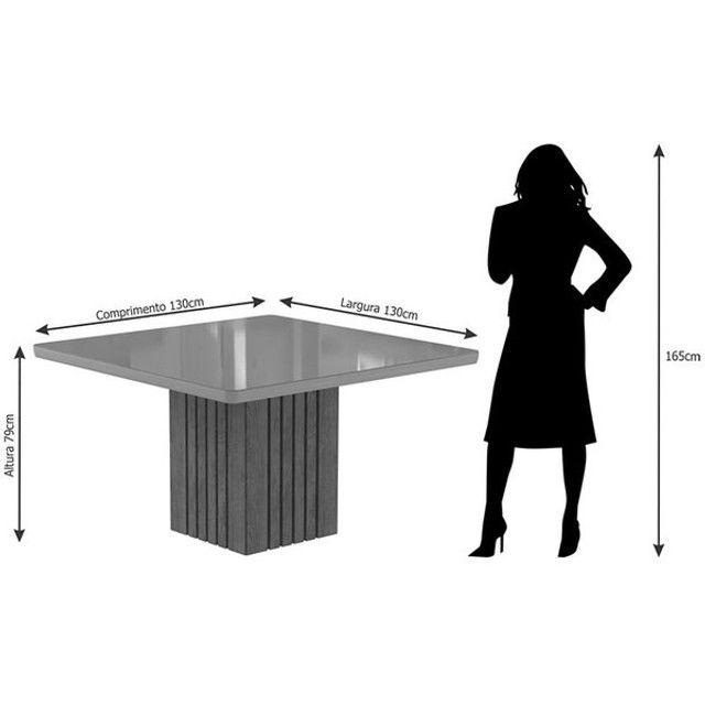 Mesa com 8 Cadeiras com Tampo de Vidro! - Foto 4