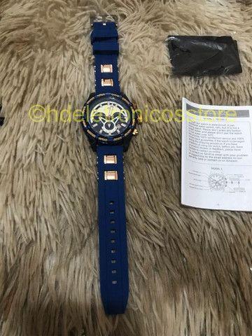 Relógio Megalith Esportivo DE pulso Silicone Original, A prova de agua - Foto 3