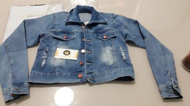 Jaqueta Jeans Infantil Feminina - Foto 4