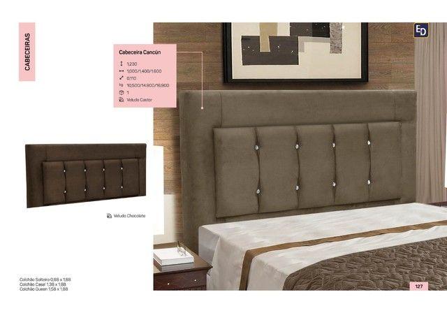 cabeceira cama de casal direto da fabrica
