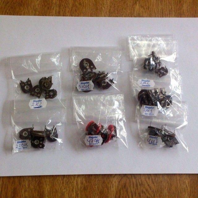 Potenciômetro Trimpot 13mm Horizontal Lote 35 peças 7 valores