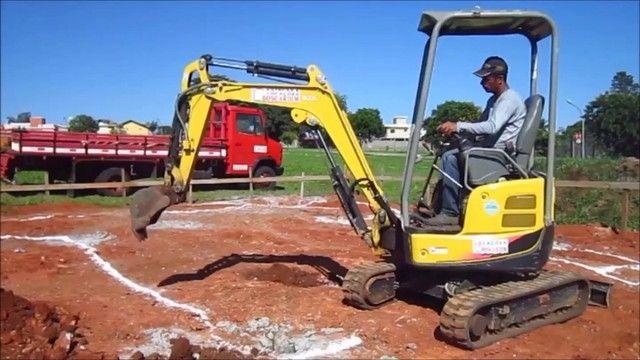 Mini escavadeira, Demolição, pavimentação, pavers, pavis,  - Foto 4