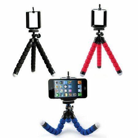 Tripé Flexível Com Suporte Para Smartphone