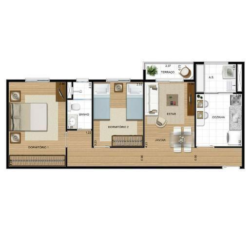 Apartamento com 2 dormitórios à venda, 58 m² por r$ 285.000 - jardim tupanci - barueri/sp - Foto 13