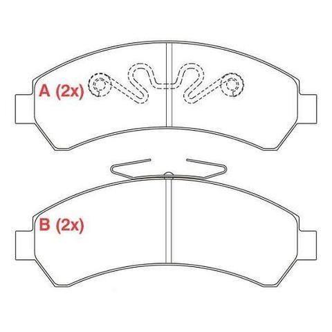 Pastilha do freio Blazer/S10 - 4X4 - 1997 até 2011 - Foto 3