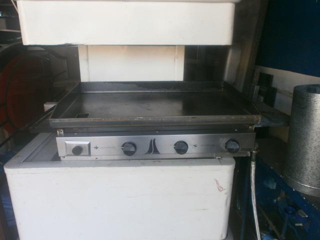 Chapa industrial bifeteira com 3 queimadores - 80 x 50 - marca venâncio - Foto 3