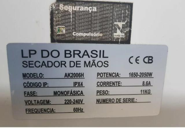 Secador de Mão turbo Jato Ak2006h- Peça ùnica -41 30937115 - * - Foto 6