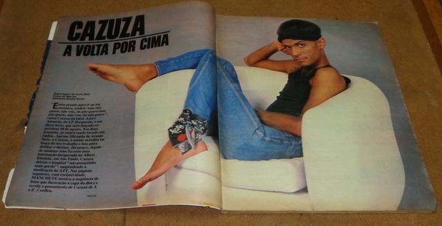 Cazuza - Revista Manchete de 08/07/1989 - Foto 2