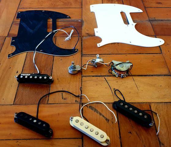 Kit telecaster vintage wilkson+Captadores single coil genéricos
