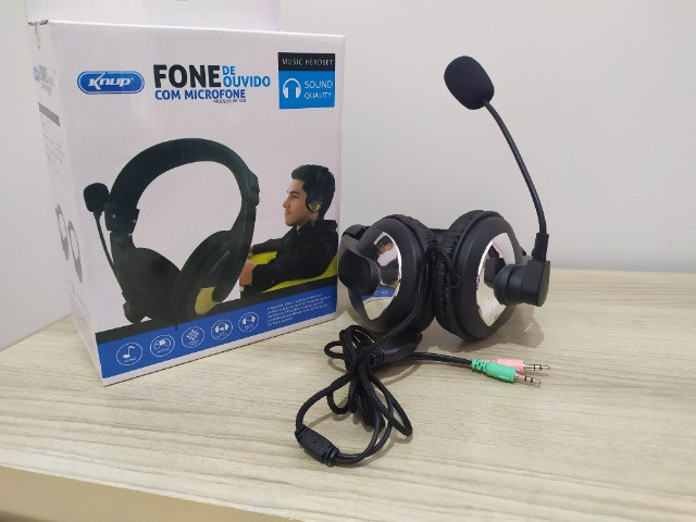 Fone de Ouvido Com Microfone Para PC - Foto 4