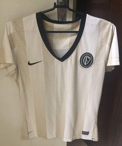 Camisa Corinthians Oficial Centenário TAM. P Feminina - Foto 2